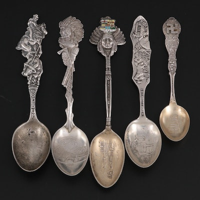 Joseph Mayer & Bros., Watson and Other Sterling Silver Souvenir Spoons