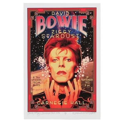 "David Edward Byrd Giclée ""Bowie/Ziggy at Carnegie Hall 1972,"" 2021"