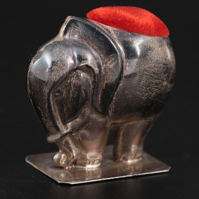 Sterling Silver Elephant Pincushion