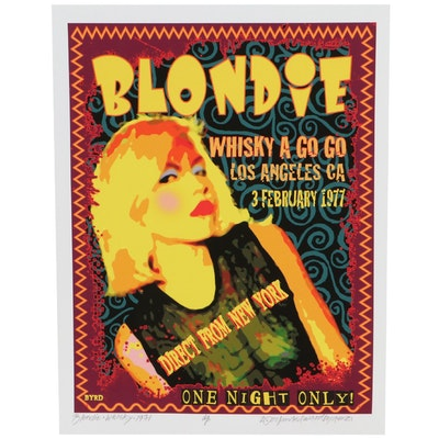 "David Edward Byrd Giclée ""Blondie at the Whisky 1977,"" 2021"