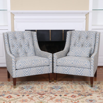 """Michael Weiss for Vanguard Furniture """"Flynn"""" Tufted Back Armchairs"""