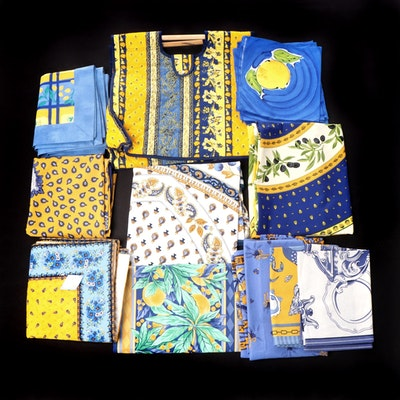 Laure Japy and Other French Provincial Style Table Linens and Quilted Tote