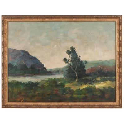 Landscape Oil Painting, Mid-Late 20th Century