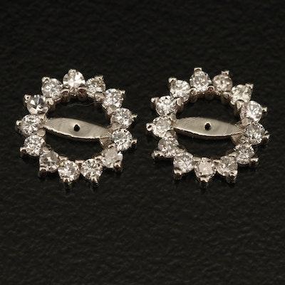 14K 0.42 CTW Diamond Earring Jackets