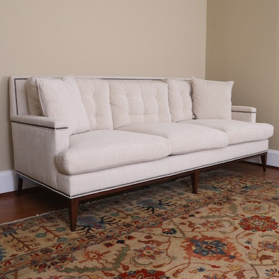 """Michael Weiss for Vanguard Furniture """"Greenfield"""" Sofa with Nail Head Trim"""