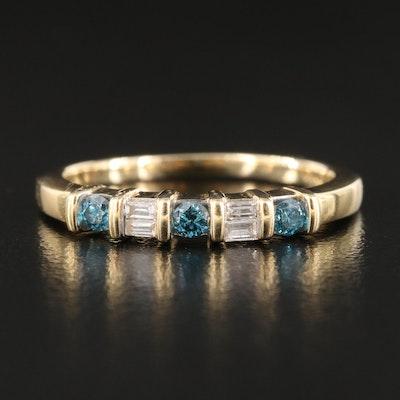14K 0.25 CTW Five Stone Diamond Ring