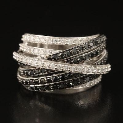 14K 2.22 CTW Diamond High-Low Ring