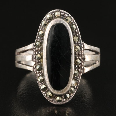 Sterling Enamel and Marcasite