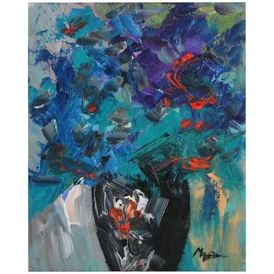 """Claire McElveen Oil Painting """"Cobalt Joy,"""" 2021"""