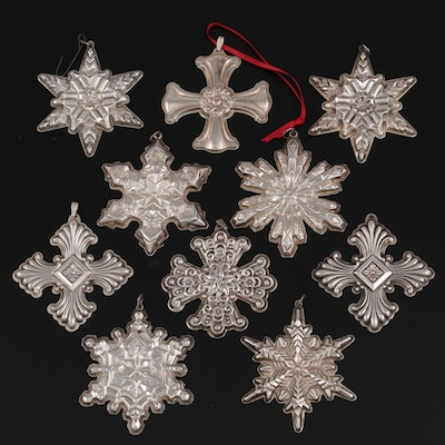Gorham and Reed & Barton Sterling Silver Christmas Ornaments