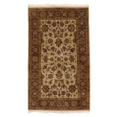 3' x 5'2 Hand-Knotted Indo-Persian Tabriz Area Rug