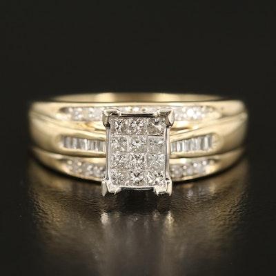 10K 0.51 CTW Diamond Ring