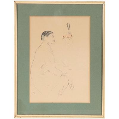 Lithograph After Henri de Toulouse-Lautrec, Mid-20th Century