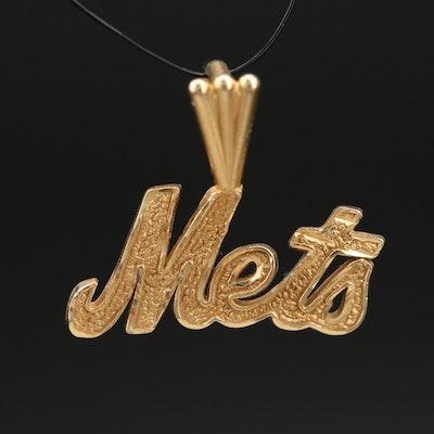 14K New York Mets Pendant