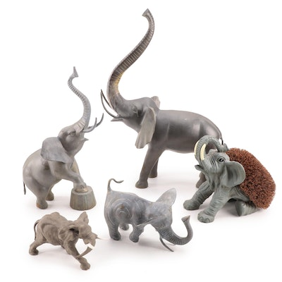 Martino Spain and Home Accents Porcelain, Resin and Metal Elephants