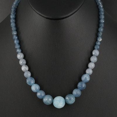 Quench Crackled Quartz Graduated Necklace
