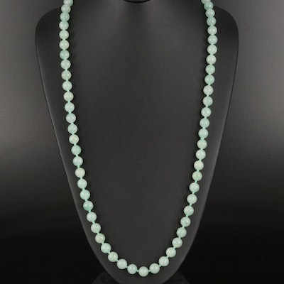 Aventurine Knotted Bead Endless Necklace