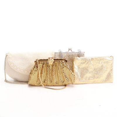 Whiting & Davis Gold Tone Mesh, Walborg Beaded and Other Evening Bags