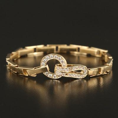 14K Fancy Link Cubic Zirconia Bracelet