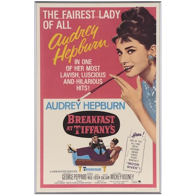 """""""Breakfast at Tiffany's"""" One Sheet Movie Poster, 1965"""
