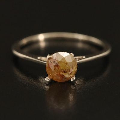 14K 0.94 CT Diamond Solitaire Ring