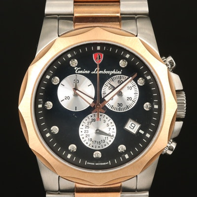 Tonino Lamborghini Diamond Dial Chronograph Wristwatch