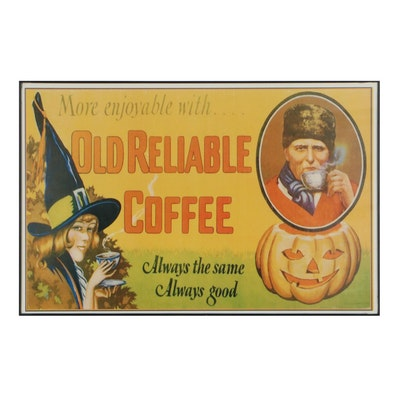 Promotional Giclée for Old Reliable Coffee, 21st Century