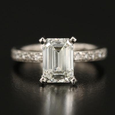 Scott Kay Palladium 2.61 CTW Diamond Ring with Platinum Setting and IGI Report