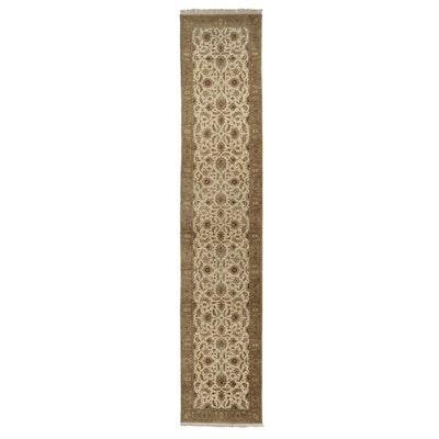 4'1 x 20'5 Hand-Knotted Indo-Turkish Oushak Long Rug
