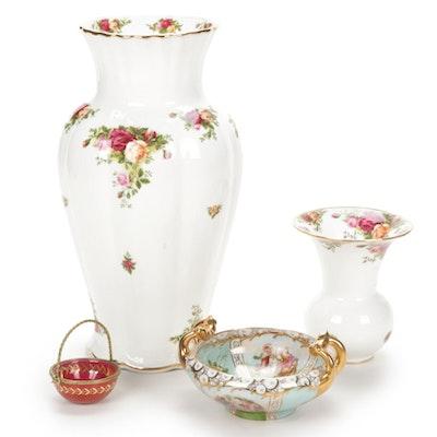 "Royal Albert ""Old Country Roses"" Bone China Vases and Decorative Bowls"