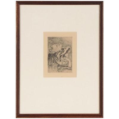"""Pierre-Auguste Renoir Second State Restrike Etching """"Le Chapeau Épinglé"""""""