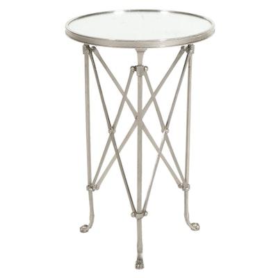 Metal Glass Top Side Table