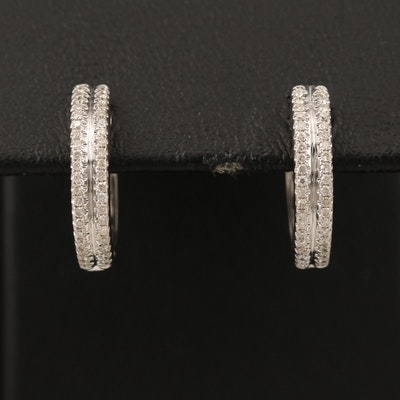 14K 0.25 CTW Diamond Huggie Earrings
