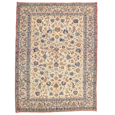 9'11 x 13'6 Hand-Knotted Persian Yazd Room Size Rug