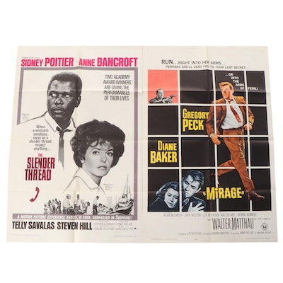 """""""Mirage"""", """"The Slender Thread"""" Movie Posters, 1960s"""