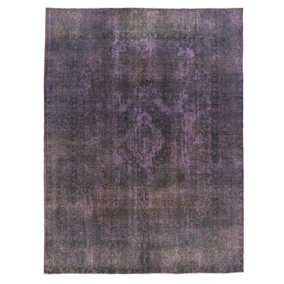 9'10 x 13'3 Hand-Knotted Persian Overdyed Room Size Rug