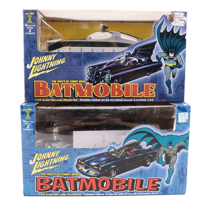 Johnny Lighting 1950s DC Comic Book Batmobile Diecast Cars in Boxes