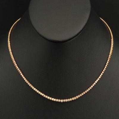 Sterling 1.02 CTW Diamond Riviera Necklace