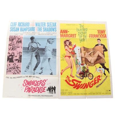 """The Swingers"", ""Swingers' Paradise"" Movie Posters, 1960s"