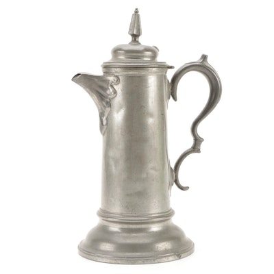Colonial Style Pewter Coffee Pot