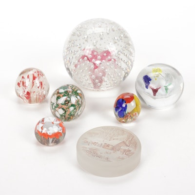 Murano, St. Clair and Other Blown Glass Paperweights