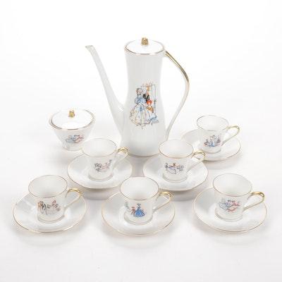 Edelstein Hand-Painted Porcelain Tea Set