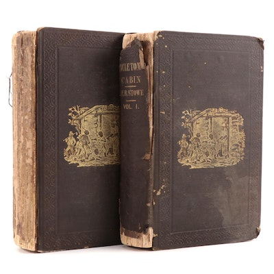 """Early Printing """"Uncle Tom's Cabin"""" Two-Volume Set by Harriet Beecher Stowe, 1852"""
