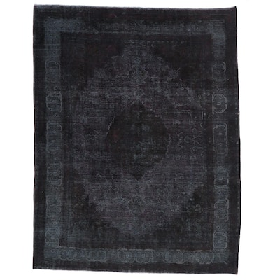 9'6 x 12'5 Hand-Knotted Persian Overdyed Room Size Rug
