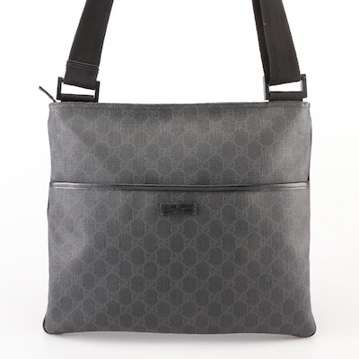 Gucci Flat Messenger Bag in in GG Coated Canvas