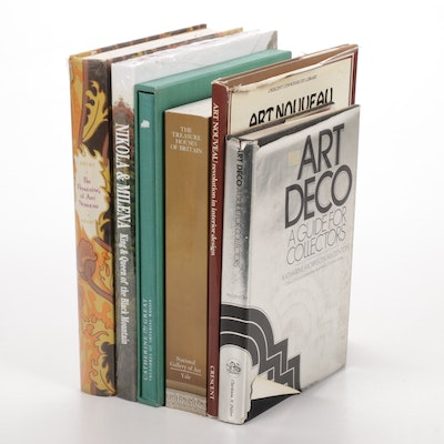 """Four Books Featuring """"The Flowering of Art Nouveau"""" by Maurice Rheims"""