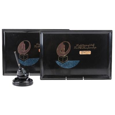 U.S Navy Ball Socket Pen Holder and World Series Golf Championship Trays