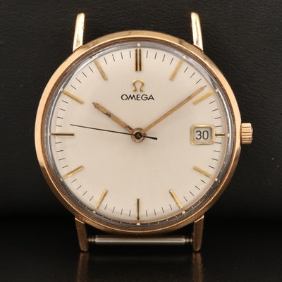 18K 1964 Omega with Date Wristwatch