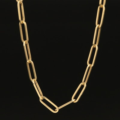 14K Paperclip Chain Necklace