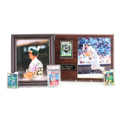 Mark McGwire Signed Photo, USA Graded Rookie Card with Jose Canseco Collectibles